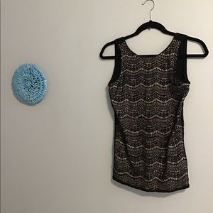 🌸 NWT Maurices Lace & Bead Tank Top SZ S